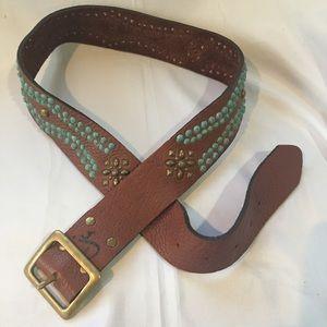 """JOED J. Urbina Studded Leather Belt 32-36"""" Size"""